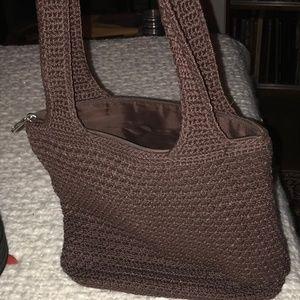 "Sak brown ""knit"" brown purse"